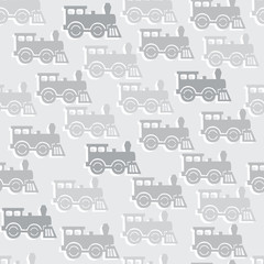 seamless background with steam locomotives.