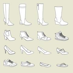Damenschuhe, Schuhe
