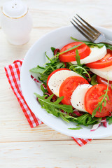 classic caprese salad on a plate