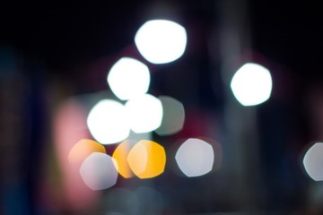 Abstract circular bokeh background of night light