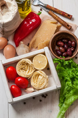 Set of ingredients for cooking