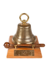 Table meeting bell isolated on white background