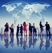 Obrazy na płótnie, fototapety, zdjęcia, fotoobrazy drukowane : Business People New York Global Meeting Concept