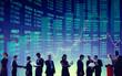 Leinwandbild Motiv Business People Global Stock Market Financial Concept