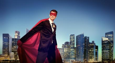 Superhero Businessman New York Concepts