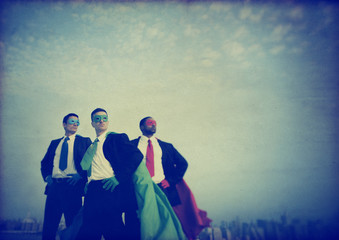 Superhero Businessmen New York Concepts