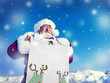 Santa Claus Holding Scroll Christmas Concept