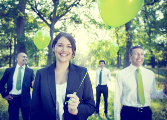 Business People Green Business Environmental Conservation Concep