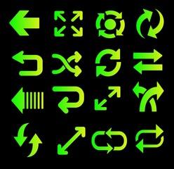 Flechas, efecto fluorescente