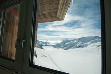 Jungfrau mountains, the snow, the highest in Europe