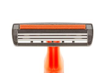 Closeup disposable shaving razor
