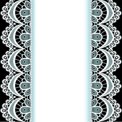 background with stripes of lace and pearls