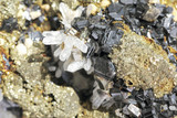 Macro, pyrite and quartz with   fine detail