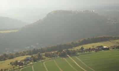 Blick vom Lilienstein hinüber zum Königstein