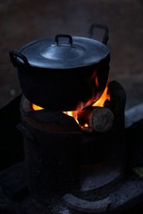 cooking on the Wood stoves style in the countryside 1
