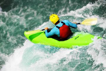 White water kayaking as extreme and fun sport