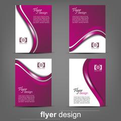 Set of business flyer template for cover design, document folder