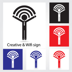 Set of  wifi icons for business or commercial use. Business and
