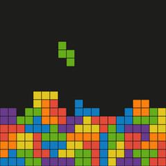 Dark flat tetris background