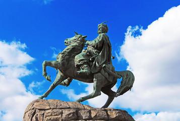 Hetman Bogdan Khmelnitsky statue in Kiev, Ukraine