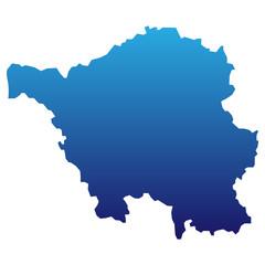 Saarland in blau