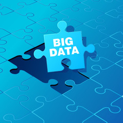 Big Data on puzzle