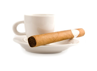 cigar and cup of coffee