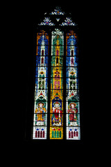 Vitrail, collégiale Saint Martin à Colmar, Haut Rhin, Alsace