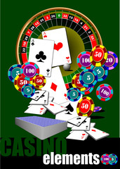 Casino elements. Vector illustration