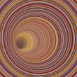 3d render tunnel vortex in multiple striped color