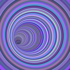 3d render tunnel vortex in multiple purple striped color
