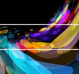 Color splash banner & background set
