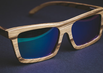 Wooden sunglasses detail