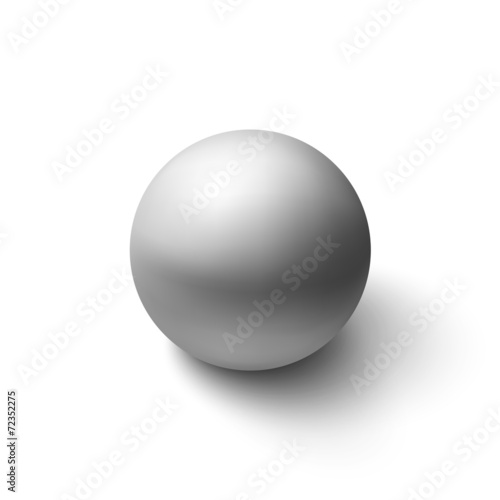 Realistic grey sphere - 72352275