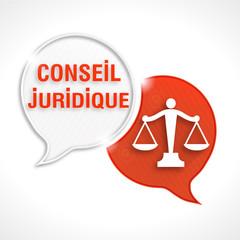 bulles rayées : conseil juridique & picto justice balance