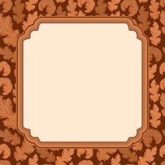 Decorative frame with leaves 1