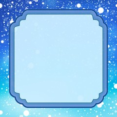 Decorative frame with snow 1