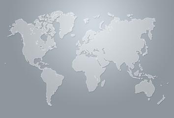 Minimalistic world map illustration