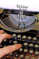 Nostalgie Schreibmaschine, Online Wort
