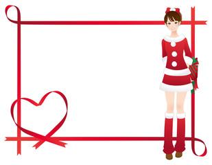 クリスマス 女性 メッセージカード