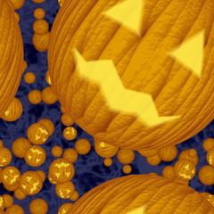 Halloween pumpkin seamless texture