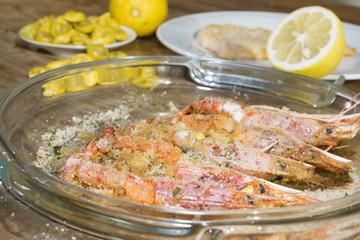 shirimps au gratin