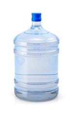Big blue plastic cooler bottle