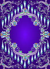 background with a pattern of precious stone silver