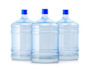 Three big bottles water
