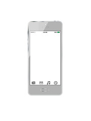 Realistic   mobile  phone screen isolated