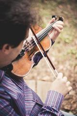 Violinista al parco