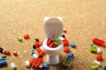 洋式トイレのミニチュア