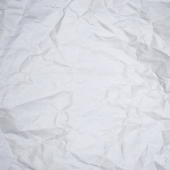 white wrinkled paper texture or background