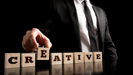 Simple Creativity in Business Concept